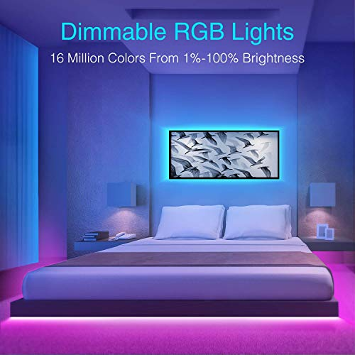 Gosund Smart LED Strip Lights 32.8ft Wifi RGB Tape Light Strips Works with Alexa and Google Home, APP Control, Sync with Music, 5050 RGB Color Changing Lights for Bedroom, TV, Kitchen, Bar, Party