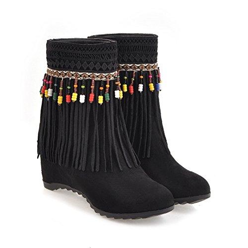 Suede Black Tassels Womens Slip Comfort BalaMasa Boots Resistant ABL09944 Casual YAZwPHq