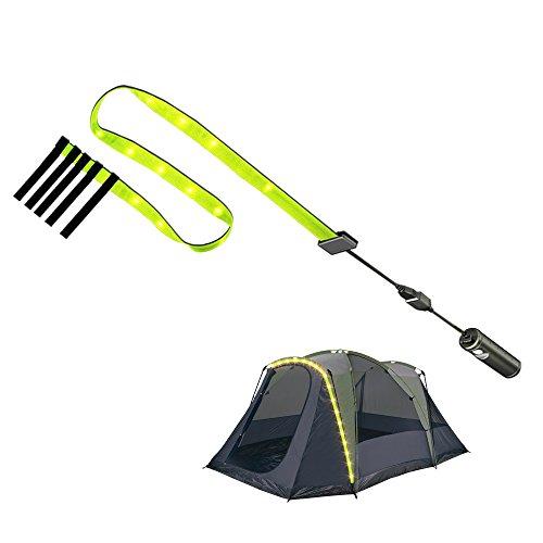 BASON LIGHTING Camping LED Rope Light, Camp LED String Light, USB Rechargeable Battery Waterproof Camping Light Hanging, Tent Decorative Light String #Tent-TL1
