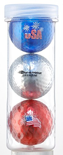 Chromax USA Patriotic Golf Balls Red, Silver and Blue