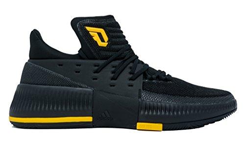 Adidas Dame 3 Nba / Ncaa Scarpe Da Uomo Nucleo Da Basket Nero Collegiato Oro