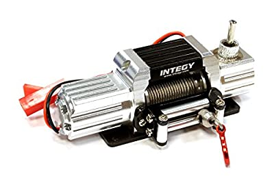 Integy Hobby RC Model C25579SILVER Billet Machined T7 Realistic High Torque Mega Winch for Scale Rock Crawler 1/10
