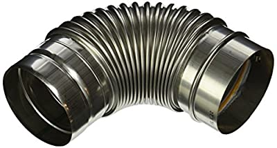 Noritz VP4-90ELBOW 4-Inch Diameter by 90 Degree Stainless Steel Single Wall Venting