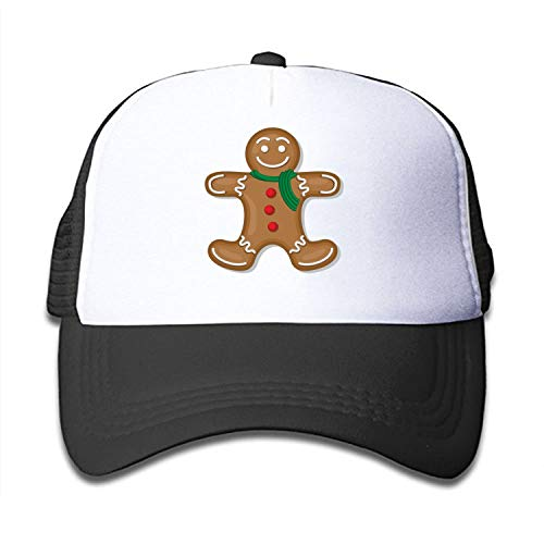 Yves Horace Child Unisex Gingerbread Man 100% Nylon Mesh Caps Mesh Caps Adjustable