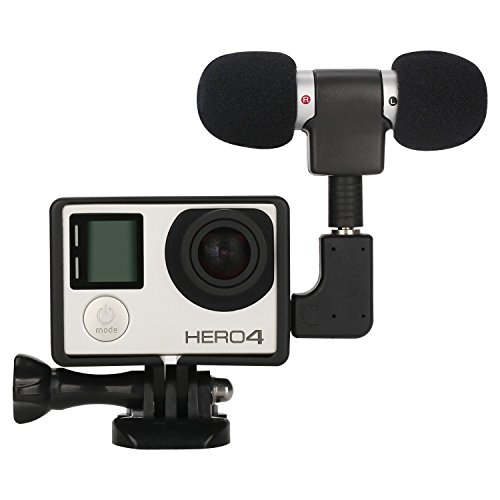 Stereo Condenser Microphone for GoPro Hero 3 3+ 4 Mic Cable Adapter - 8