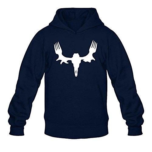Tommery Men's Meat Eater Long Sleeve Sweatshirts Hoodie
