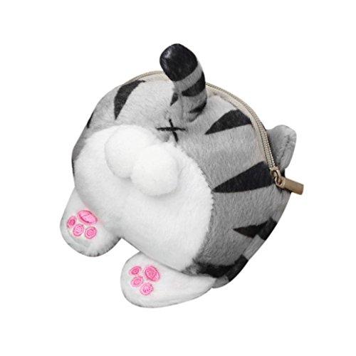 Hot Sale! Clearance! Women Bag,Todaies Cute Cat Butt Tail Plush Coin Purse Change Purse Bag (11.5cm(L)5cm(W)9.5cm(H), Multicolor)
