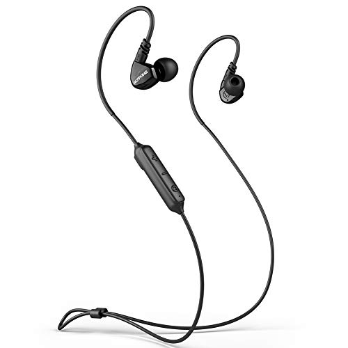 ROVKING Ear Buds Wireless Headphones 5.0 Bluetooth Earbuds with Mic, IPX5 Sweatproof Sports Headset for Running Gym Workout, Earphones for Cell Phones Laptop TV, Low Latency in Ear Monitor 10H Black