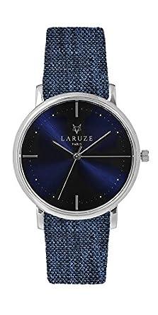 Laruze Armbanduhr la Bluejean - Zifferblatt aus Stahl - Blau - fÜr Herren