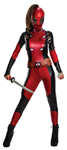 Marvel Women's Deadpool Costume, Multi, Medium - Deadpool Adult Costumes