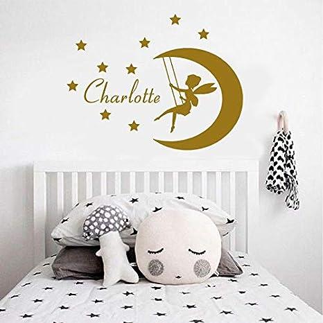 HNXDP Custom Girls Name Fairy Wall Sticker Vinilo Decoración para ...