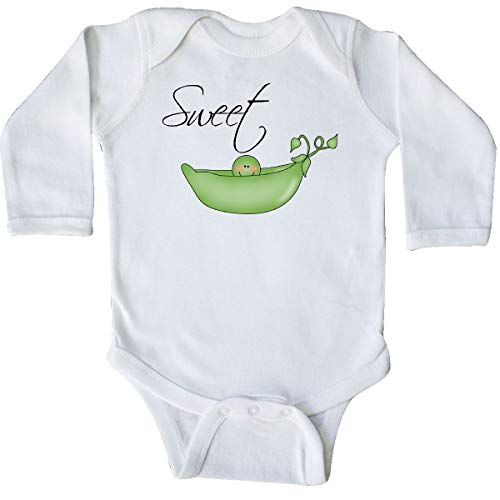 inktastic - Sweet Pea Long Sleeve Creeper Newborn White 2aa2 -