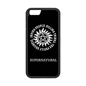 Fashion Supernatural Hard Snap On Rubber Coated Cover Case for iPhone 6 (4.7 inch) by ruishername