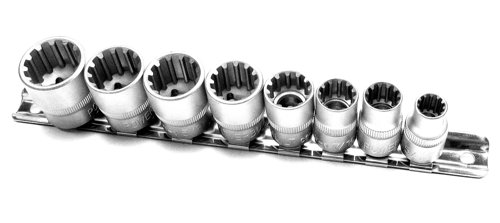 Powerbuilt 641990 SAE Spline Socket Set, 8-Piece (Sae Sockets compare prices)