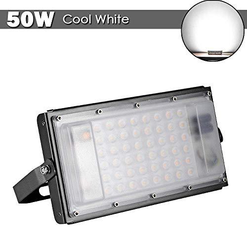(Viugreum 50W LED Flood Lights, Waterproof IP65 Outdoor Work Lights, 5000LM Daylight White(6000K), Super Bright Security Floodlights Landscape Wall Lights)