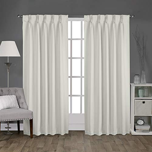 Magic Drapes Home décor 100% Polyester Double Pinch Pleat Blackout Window Curtain Panels & Drapes and Thermal Insulation Handmade in India (42x63, 2 Panels, Light Grey)