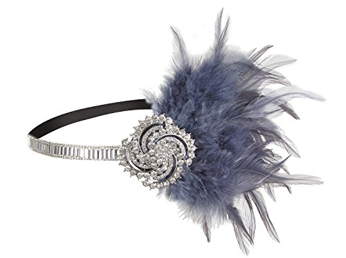Vijiv 20s Headpiece Jewelry Vintage 1920s Headband Flapper Great Gatsby Wedding (Homemade Costumes For Plus Size Women)