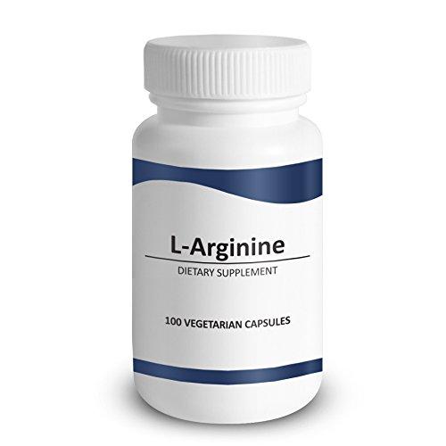 L-arginine 750 Mg 100 capsules - Booster de monoxyde d'azote (No2) & soutien santé cardiovasculaire