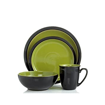 Denby Duets 4-Piece Place Setting Black/Green  sc 1 st  Amazon.com & Amazon.com: Denby Duets 4-Piece Place Setting Black/Green ...