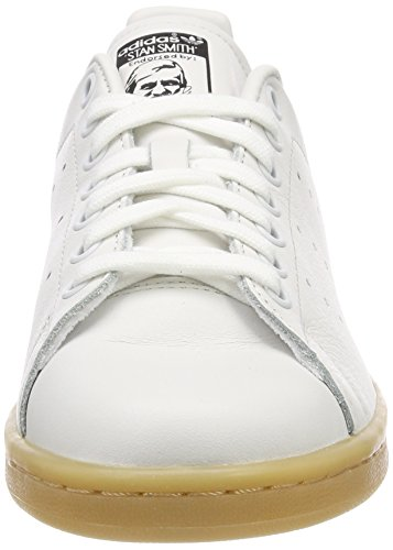 adidas Damen Stan Smith Gymnastikschuhe Elfenbein (Crystal White S16/crystal White S16/core Black)