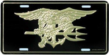 License Plate - U. S. NAVY - SEAL TRIDENT