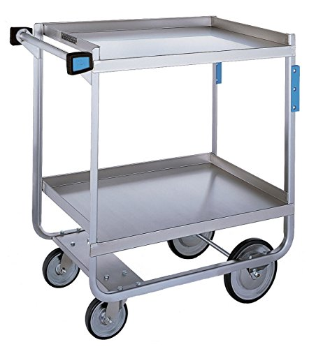 Lakeside 521 NSF-Heavy Duty Utility Cart, 2 Shelves, Stainless Steel, 700 lb. Capacity, 19-3/8'' x 32-5/8'' x 35-1/2'' by Lakeside Manufacturing