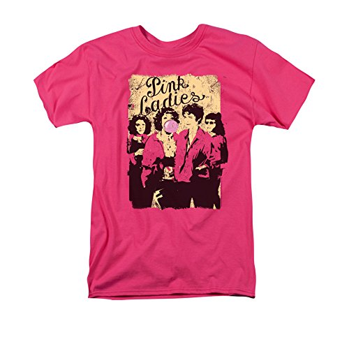 Grease Men's Pink Ladies Classic T-shirt Small Hot Pink -