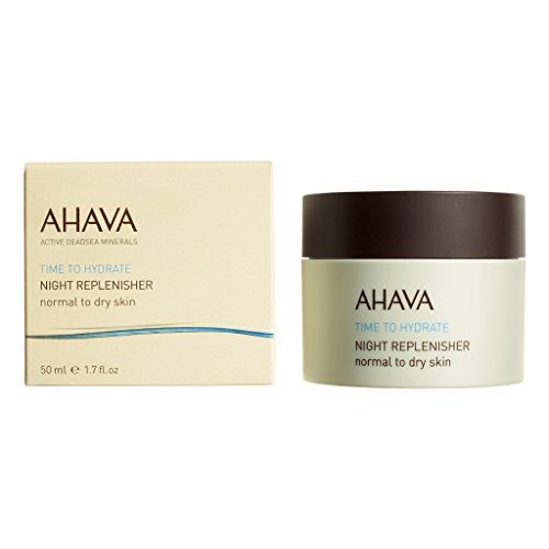 AHAVA Nighttime Face Moisturizer & Anti Aging Cream, Time to Hydrate Night Replenisher - Normal to Dry Skin, 1.7 Fl Oz - Anti Aging Normal Skin Moisturizer