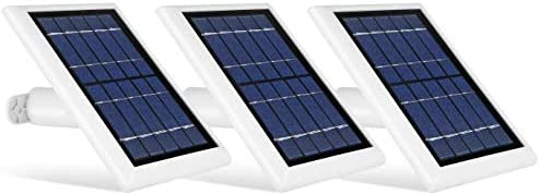 Wasserstein Solar Panel Compatible with Ring Spotlight Cam Battery & All-New Ring Stick Up Cam Battery - Power Your Ring Surveillance Camera incessantly with 2W 5V Charging (3 Pack, White)