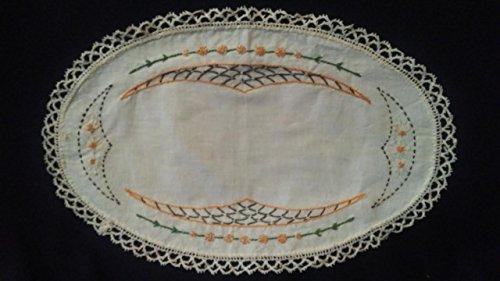 Handmade Dresser Scarf, Embroidered Doily (Doilie) 18
