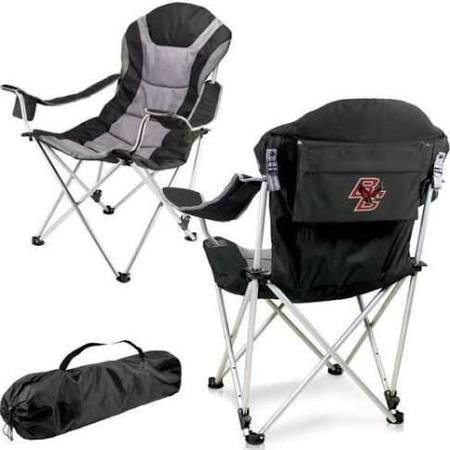 PICNIC TIME NCAA Boston College Digital Print Reclining Camp Chair, Black, One Size
