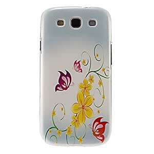 Butterflies and Leaves Pattern Plastic Protective Hard Back Case Cover for Samsung Galaxy S3 I9300