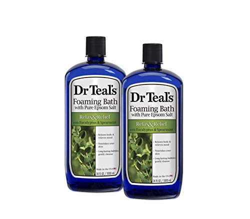 Dr. Teal's Foaming Bath, Eucalyptus Spearmint, 34 Fl Oz (Pack of 2)