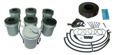 41gSDV5ix7L FASTER FARMER 6 plant Aero Sprayer Aeroponic Hydroponic bucket system aero drip garden dwc deep water culture