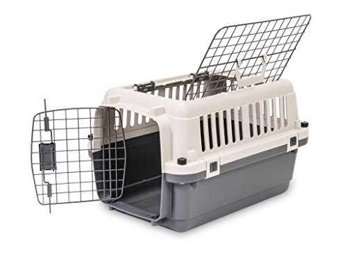 "Pet Kennel Direct 24"" Plastic Dog/Cat Pet Kennel Carrier Travel Crate"
