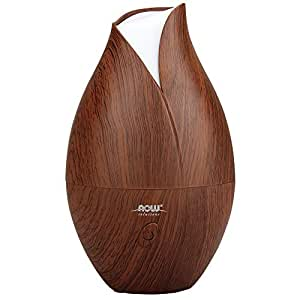 NOW Solutions Ultrasonic Faux Wood Essential Oil Diffuser