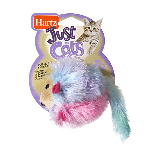 HARTZ Just For Cats Running Rodent Vibrating Plush Mouse Cat Toy