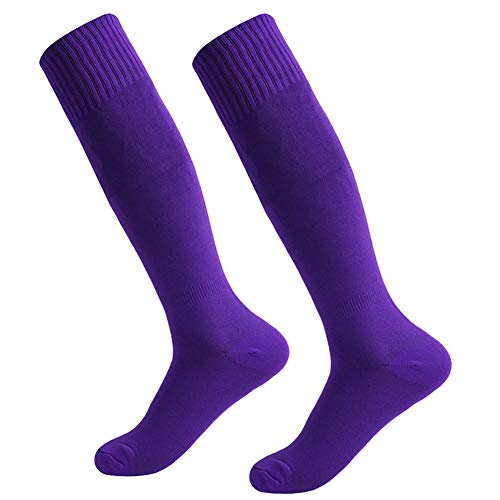 - Baseball Socks,Fasoar Mens Womens Youth Over the Calf Rugby Boots Soccer Socks 2 Pairs Purple
