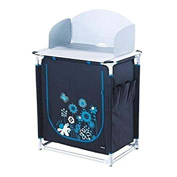 TRIGANO Meuble de cuisine - Gris et bleu turquoise: Amazon ...