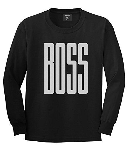 Kings Of NY BOSS Long Printed Long Sleeve T-Shirt Large Black
