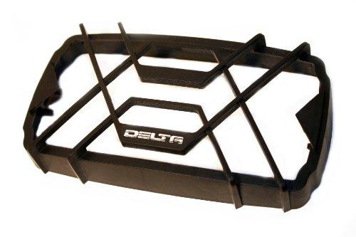 (Delta Lights (04-1429-08) 60H Series Stone Guard - Black Rectangular)