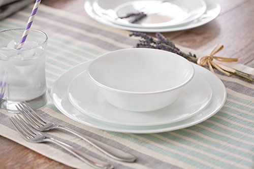 Corelle Livingware 74 Piece Dinnerware Set with Storage Lids Service for 12 White - HomeGoodsReview & Corelle Livingware 74 Piece Dinnerware Set with Storage Lids ...