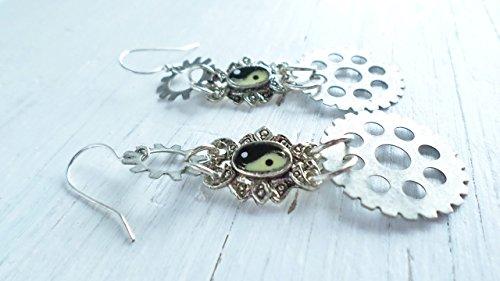 Steam Punk Meets Zen dangle earrings]()