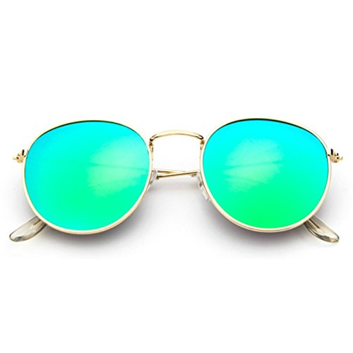 Sinkfish SG80026 Sunglasses for Women,Anti-UV & Retro Round Reflector - UV400/Bisque - Kidz Index