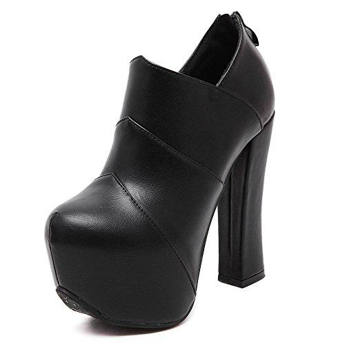 Heels High Stiefeletten Stiefel KHSKX Schuhe Stiefel Und black Frauen Stiefel Martin Frauen xSYTw