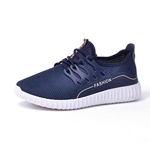 O & N Männer leichte atmungsaktive Mesh-Schuhe im Freien laufende Turnschuhe Blau
