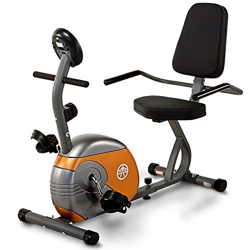 Marcy Recumbent Exercise Bike with Resistance ME-709 (Best Stationary Bike For Knee Replacement Rehab)