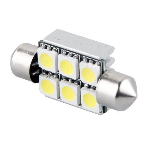 2 36mm Bombilla Festoon 6 5050 SMD LED Luz Blanca CANBUS