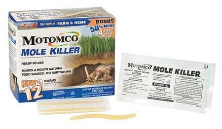 (Worm Shaped Mole Bait, PK12)