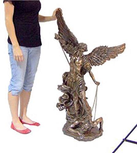 Church Art Size Bronze Statue Saint St Michael Indoor / Outdoor 47